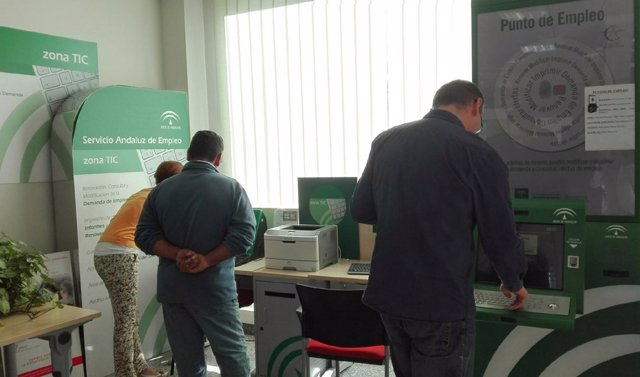 Imagen de archivo de una oficina del Servicio Andaluz de Empleo (SAE).