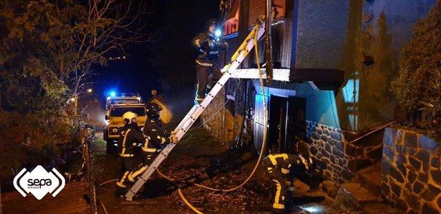 Incendio en una vivienda de Piloña.