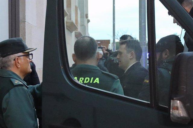 Norbert Feher, alias 'Igor el ruso', a su llegada hoy a la Audiencia de Teruel
