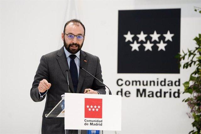 Manuel Giménez, consejero de Economía de la Comunidad de Madrid. Imagen de archivo