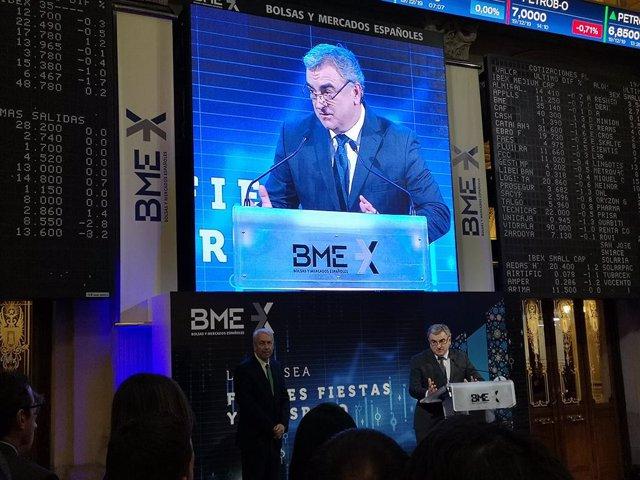 El consejero delegado de Bolsas y Mercados Españoles (BME), Javier Hernani.