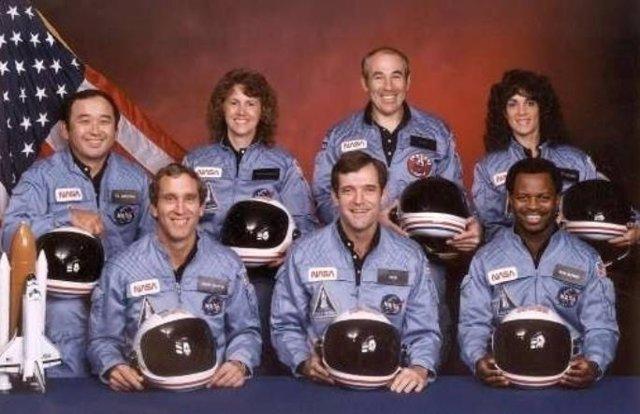 Tripulación víctima del accidente del transbordador espacial Challenger
