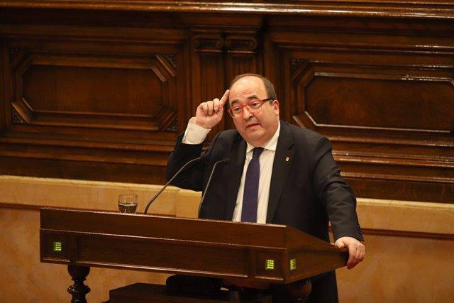 El primer secretari del PSC, Miquel Iceta, en una imatge d'arxiu