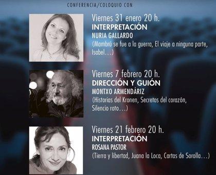Nuria Gallardo, Rosana Pastor y Montxo Armendáriz, protagonistas de las jornadas de cine español de la UA
