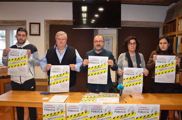 Presentación de la Plataforma Galega en Defensa da Universidade Pública