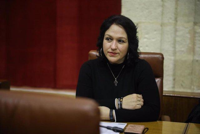 La exdiputada del grupo parlamentario Vox, Luz Belinda Rodríguez, ahora diputada no adscrita.   En el Parlamento de Andalucía, a 28 de enero de 2020.