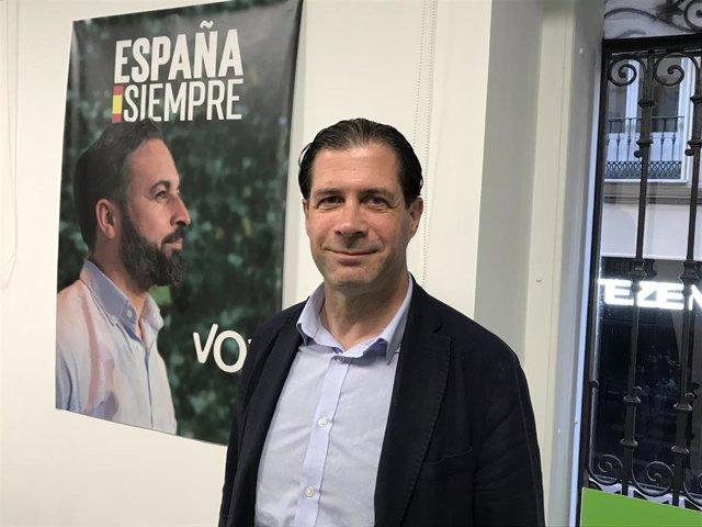 El candidato de Vox Zaragoza al Congreso de los Diputados, Pedro Fernández.