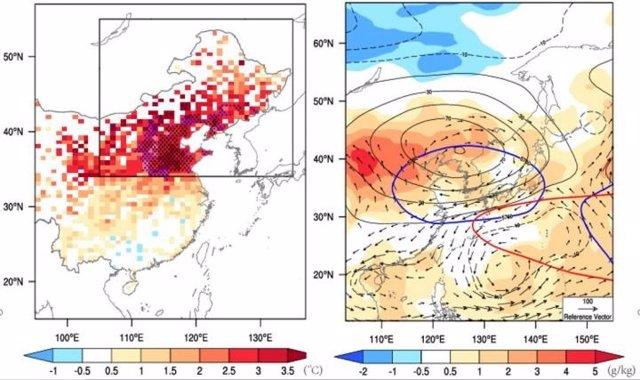 Características de la ola de calor observada en el noreste de China - 12 de julio a 10 de agosto de 2018.