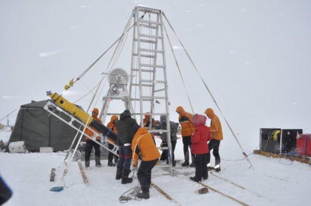 Perforación en el glaciar Thwaites