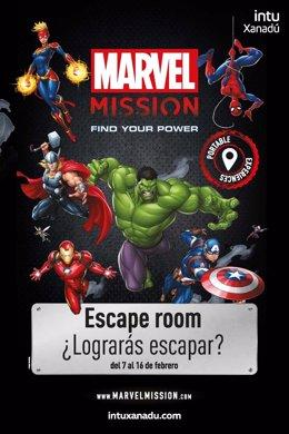 COMUNICADO: Ponte a prueba en el Escape Room de Marvel en intu Xanadú
