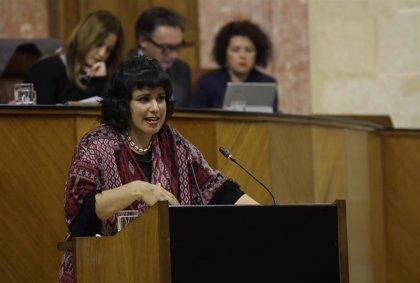 """Teresa Rodríguez censura que el modelo económico de Moreno es """"la ley de la selva"""""""
