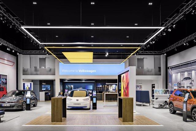 Imagen del nuevo concesionario de Volkswagen.