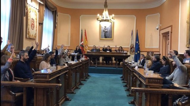 Pleno del Ayuntamiento de Irun