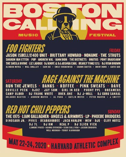 Rage Against the Machine, Foo Fighters y Red Hot Chili Peppers encabezan el Boston Calling 2020
