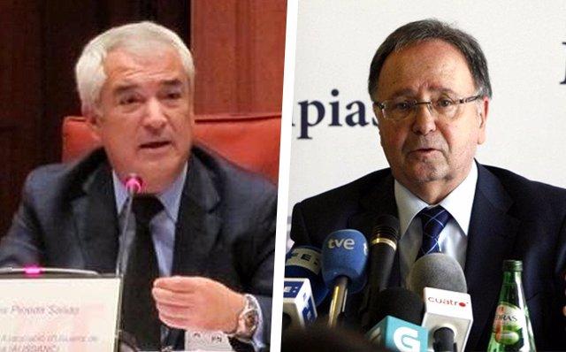 Luis Pineda, fundador de Ausbanc, y Miguel Bernard, abogado y ex político ultraderechista español.