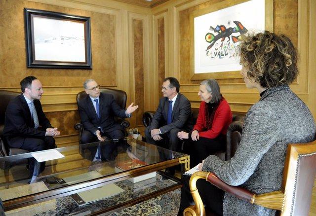 El cap de Govern, Xavier Espot, ha rebut el prefecto dels pirineos Orientals, Philippe Chopin, i el subprefecto de Prada de Conflent, Dominique Fossat
