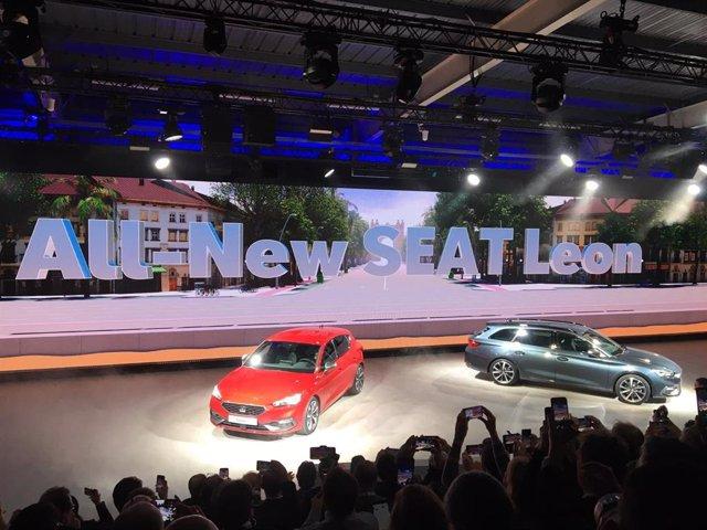 El nuevo Seat León, presentado en la fábrica de Seat en Martorell (Barcelona) el 28 de enero de 2020