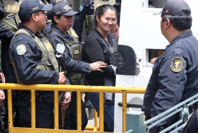 La líder del partido peruano Fuerza Popular, Keiko Fujimori.