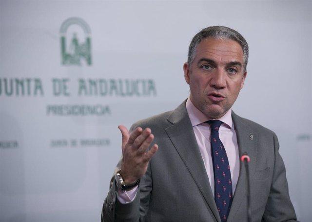 El consejero de Presidencia, Elías Bendodo.