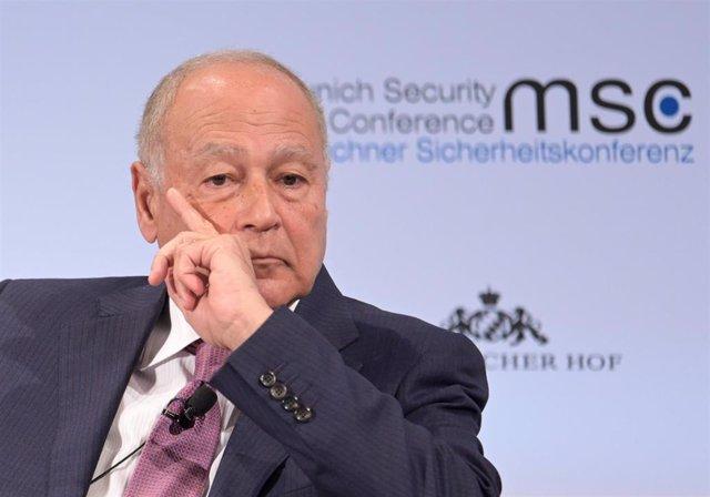 El secretario general de la Liga Árabe, Ahmed Aboul Gheit