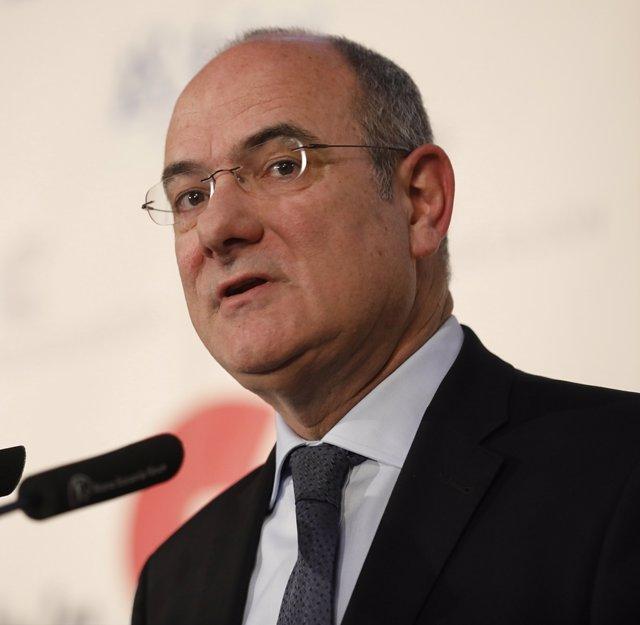 El portaveu i director general de Comunicació del Parlament Europeu, Jaume Duch, en un esmorzar informatiu (Arxiu)