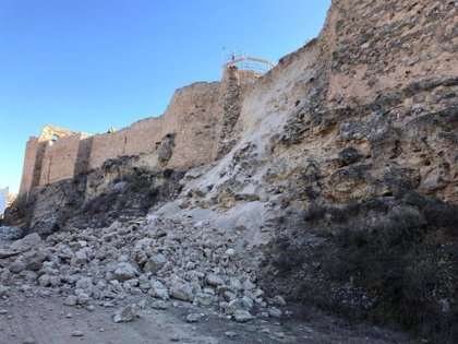Licitadas las obras de reposición del lienzo norte del Castillo de Ayud