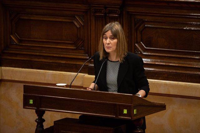 La presidenta de CatECP al Parlament, Jéssica Albiach (arxiu)