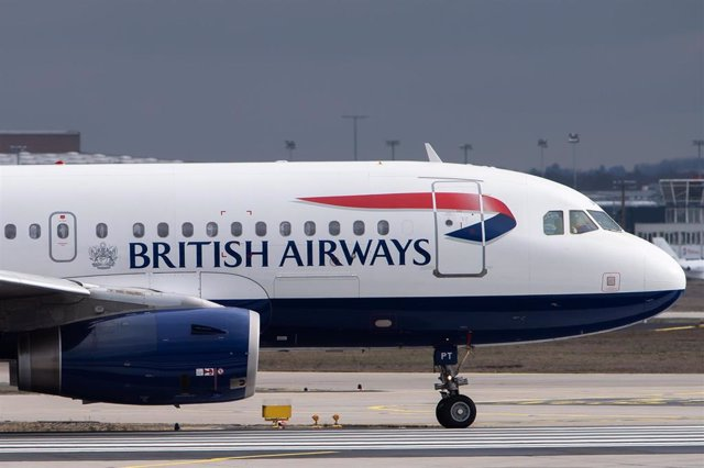 FILED - 11 February 2019, Hessen, Frankfurt_Main: The logo and lettering of the airline British Airways are be seen on a passenger plane at Frankfurt Airport. Photo: Silas Stein/dpa