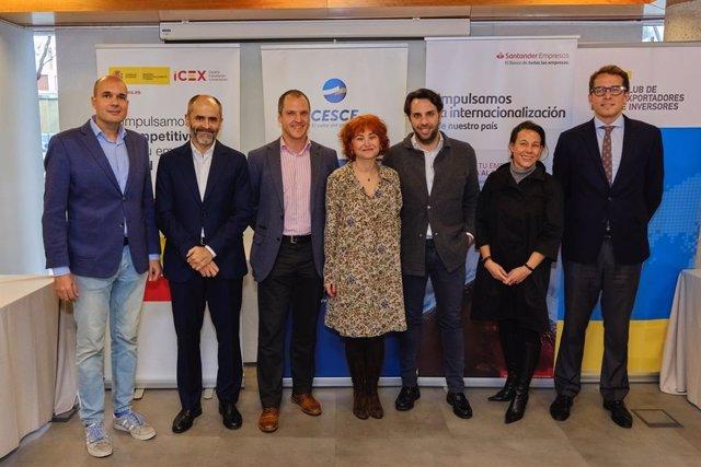Foro Diálogos de Internacionalización, organizado por Gestión Press y ESADE, con el patrocinio de Cesce y Banco Santander y la asistencia de la consejera delegada del Icex, María Peña