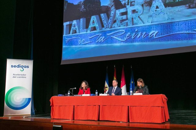 El presidente de C-LM, Emiliano García-Page, en la jornada' El futuro del gas renovable.