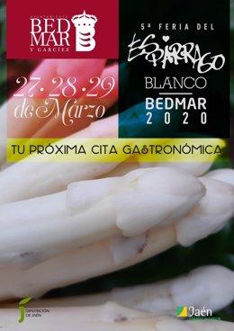 Cartel de la V Feria del Espárrago Blanco de Bedmar