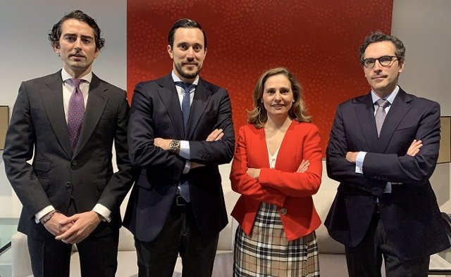 (I-D): Pablo Fernández Cortijo, Ignacio Del Fraile, Irene Fernández Puyol Y Pablo Muelas, Nuevos Socios De Capital De Gómez-Acebo Y Pombo