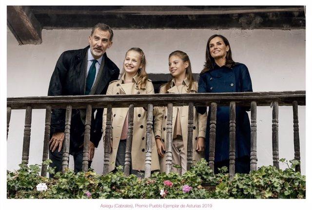 La Familia Real en Asiegu, Pueblo Ejemplar de 2019.