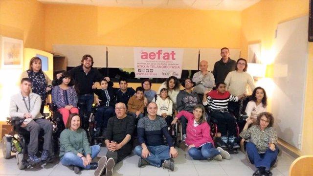 Familias AEFAT en CREER (Burgos)