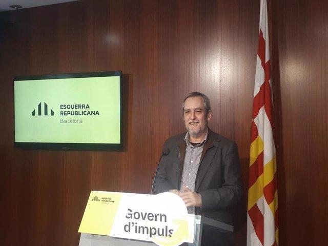 El concejal de ERC en el Ayuntamiento de Barcelona Jordi Coronas