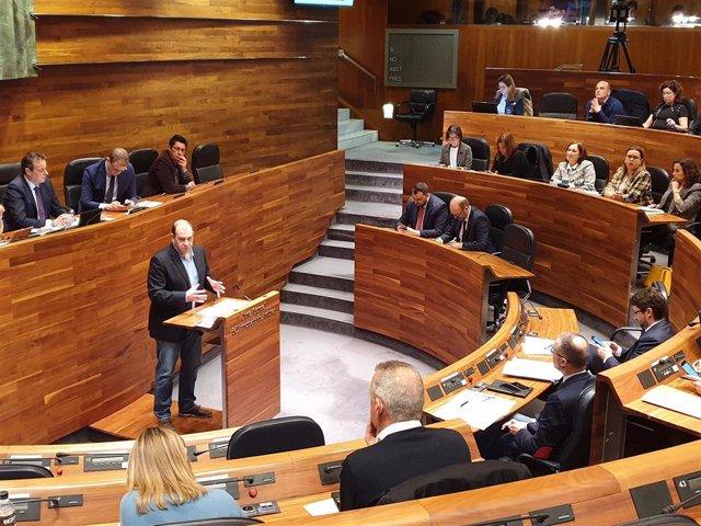 El diputado del PSOE en la Junta General Luis Ramón Fernández Huerga