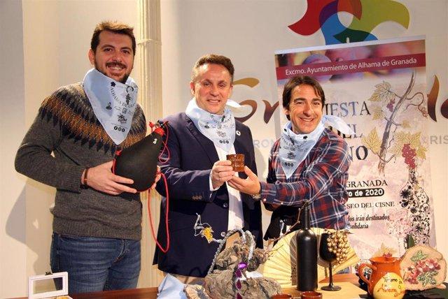 Imagen de la presentación de la 'Fiesta del Vino' de Alhama de Granada