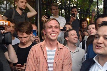 Detenidos cinco expolicías por el montaje contra el periodista de investigación ruso Ivan Golunov