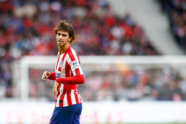 Joo Félix, en un partido con el Atlético de Madrid.