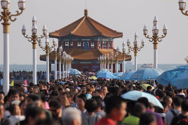Turistas en China