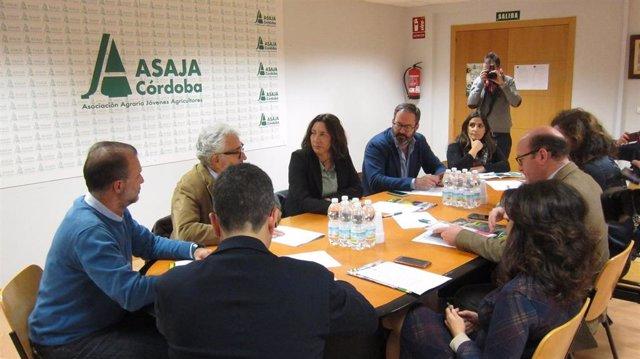 Reunión de Dolores López y cargos del PP con Asaja.