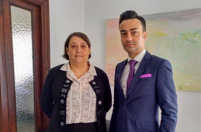 Los abogados Teresa de las Heras y Adolfo Fernández.