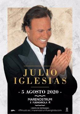 Julio Iglesias actuará el 5 de agosto en Marenostrum Festival en Fuengirola (Málaga)