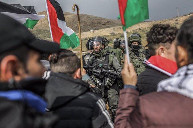 Protesta palestina en el valle del Jordán tras conocerse 'el acuerdo del siglo'
