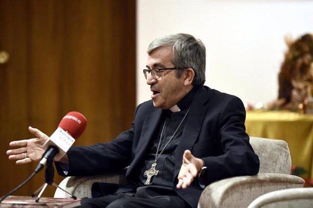 Entrevista de Europa Press con el secretario general y portavoz de la Conferencia Episcopal Española (CEE), Luis Argüello, en Madrid (España), a 18 de diciembre de 2019.