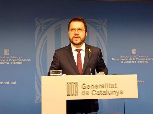 El vicepresidente de la Generalitat y conseller de Economía, Pere Aragons