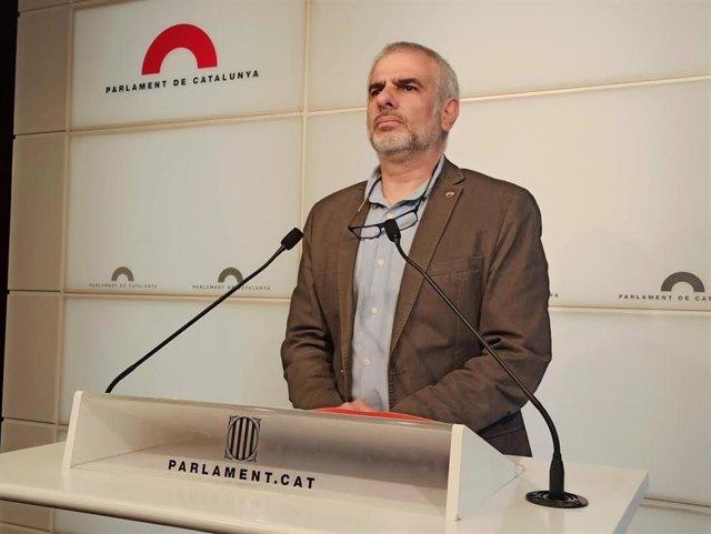 Carlos Carrizosa (Cs) en rueda de prensa en el Parlament