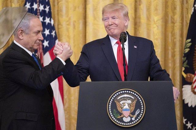 El primer ministro de Israel, Benjamin Netanyahu, y el presidente de Estados Unidos, Donald Trump