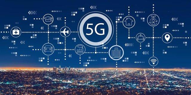 Imagen del 5G con la ciudad de Los Angeles (EEUU)