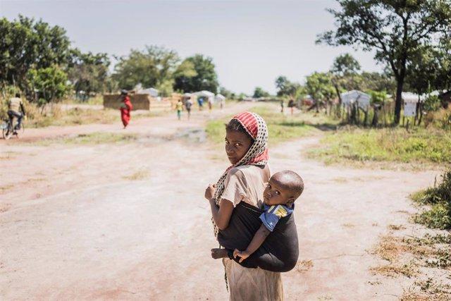 Dos niños en Chad